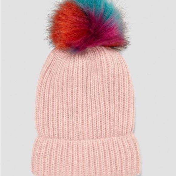 39fe4869 Zara Accessories | Pink Pom Pom Hatmnwt | Poshmark